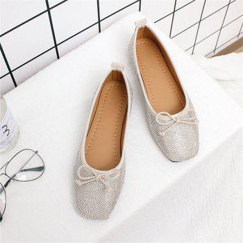 Heat Foiled Rhone Stone Bow Decor Flats clearance in China cheap sale visit new sale online sale from china free shipping how much QXAcoM9B