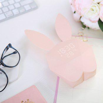 LED Creative Timing Voice-activated Charging Luminous Smart Alarm Clock - PIG PINK