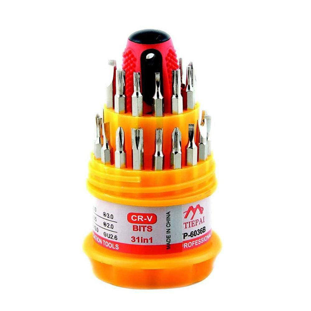 New Pagoda Screwdriver Multi-Function Set Appliance Repair Tools 31PCS - YELLOW