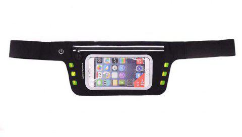 LED Luminescence Waist Bag for Outdoor Sports Mountaineering Running - ZOMBIE GREEN 4.7 INCHES DIAGONAL LENGTH
