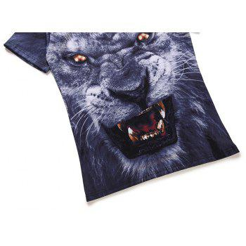 Leopard 3D Printed Short-Sleeved T-shirt - multicolor A 3XL