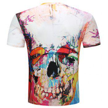 3D Printed Short-Sleeved T-shirt - multicolor A XL