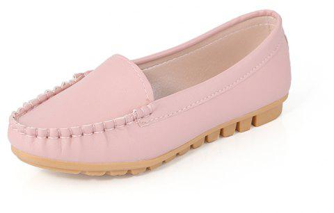 Casual Round Shallow Flat Shoes - PINK 36