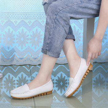 Casual Round Shallow Flat Shoes - WHITE 40