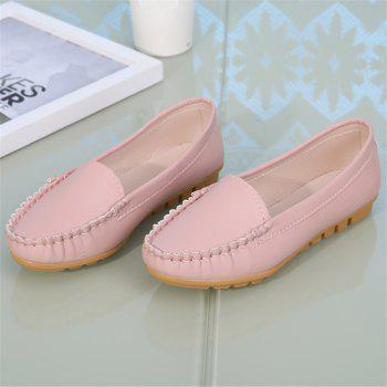 Casual Round Shallow Flat Shoes - PINK 35