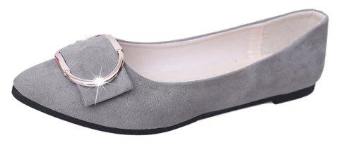 Casual Shallow Mouth Flat Pointed Shoes - GRAY 39