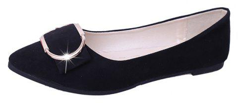Casual Shallow Mouth Flat Pointed Shoes - BLACK 39