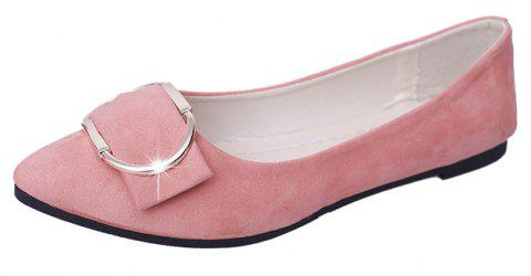 Casual Shallow Mouth Flat Pointed Shoes - PINK 41