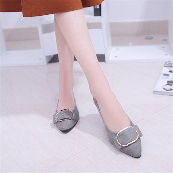 Casual Shallow Mouth Flat Pointed Shoes - GRAY 40