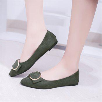Casual Shallow Mouth Flat Pointed Shoes - ARMY GREEN 38