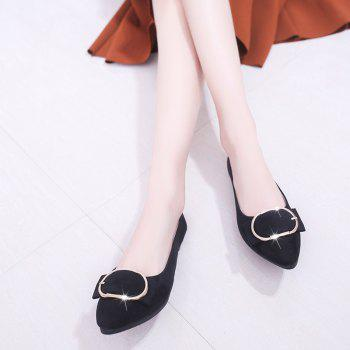 Casual Shallow Mouth Flat Pointed Shoes - BLACK 37