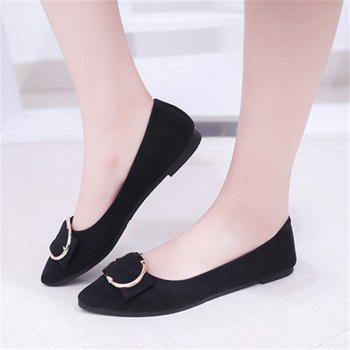 Casual Shallow Mouth Flat Pointed Shoes - BLACK 38