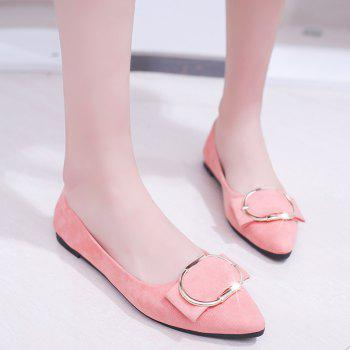 Casual Shallow Mouth Flat Pointed Shoes - PINK 40