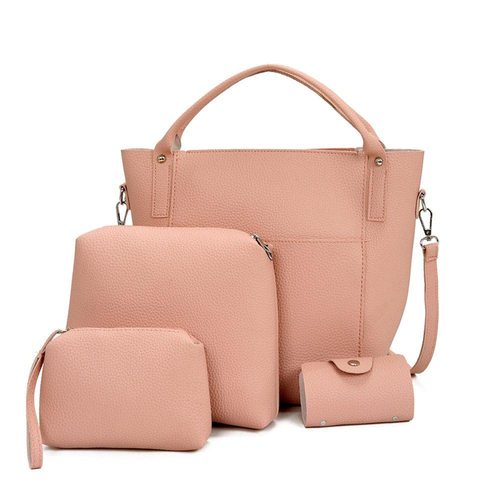 Four Pieces Bag of Korean Edition - PINK