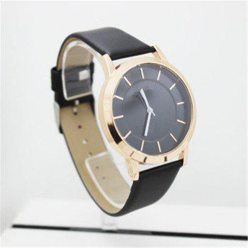 Fashion Popular Casual Quartz Couple Watches - BLACK MALE