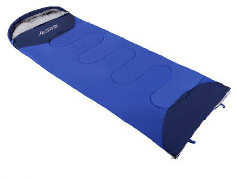 PolarFire Camping Gadgets Water Resistant Envelope Thermal Insulation Sleeping Bag - SAPPHIRE BLUE