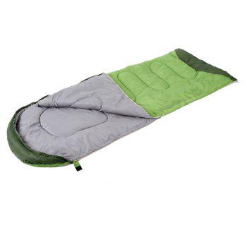 PolarFire Camping Gadgets Water Resistant Envelope Thermal Insulation Sleeping Bag - GREEN APPLE