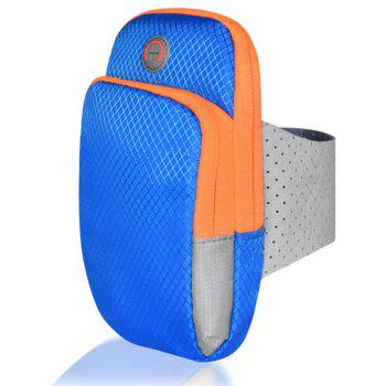 Outdoor Sports Running Mobile Phone Isolated Design with Headphone Arm Pack - BLUE