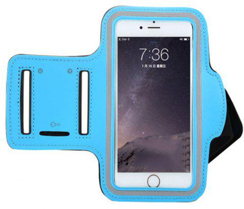 Sports Running Outdoor Touch Screen Waterproof Mobile Phone Arm Bag - BLUE