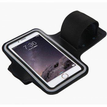 Sports Running Outdoor Touch Screen Waterproof Mobile Phone Arm Bag - BLACK