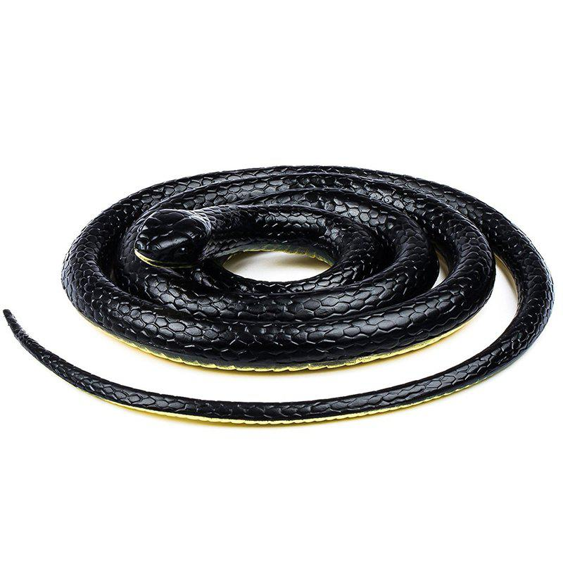 52 Inch Realistic Rubber Snake Toys - BLACK