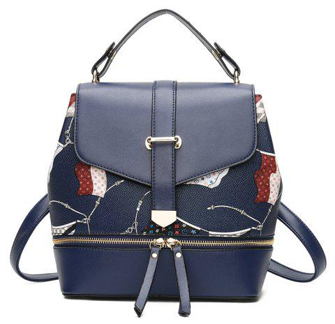 Shoulder Bag Female  Leisure Student Pack Multi-functional  Backpack - SAPPHIRE BLUE 25 X 14 X 25