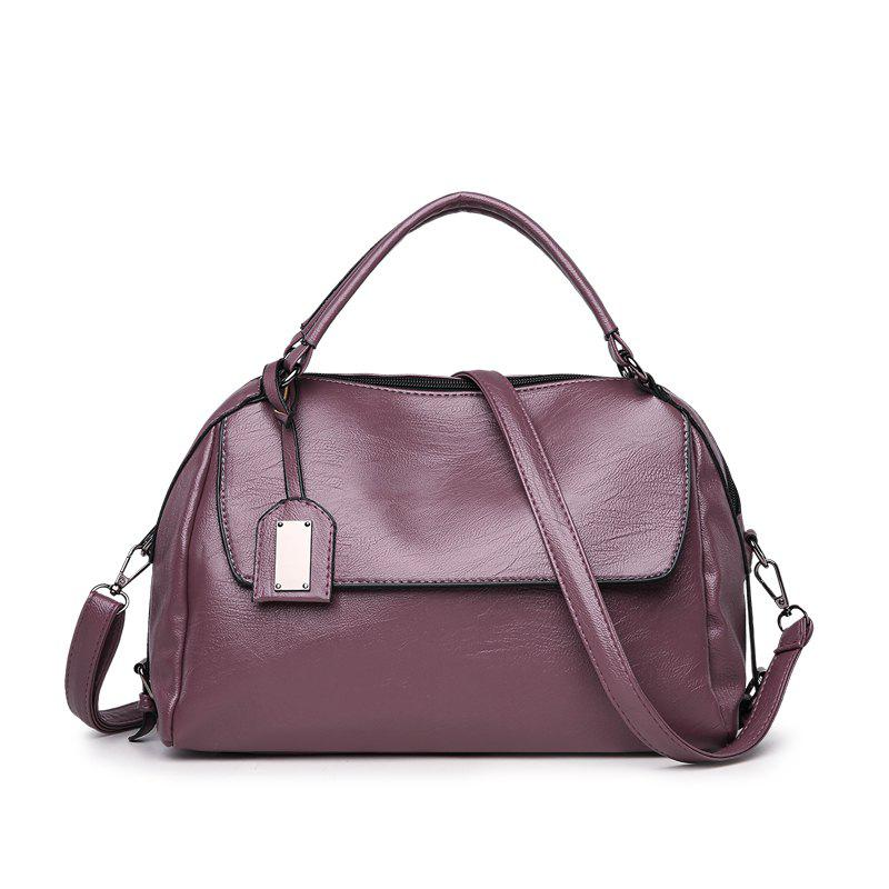 The New Boston Shoulder Simple Bag Large - PURPLE 33 X 12 X 22