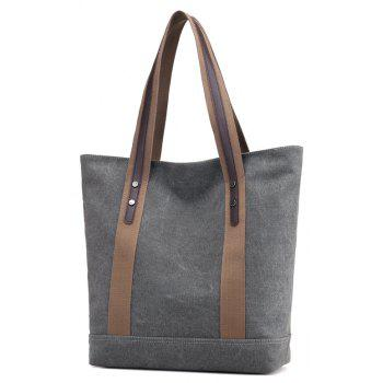 Contracted Canvas Bag Handbag Shopping Lady One Wind Large Capacity - GRAY 32 X 12 X36