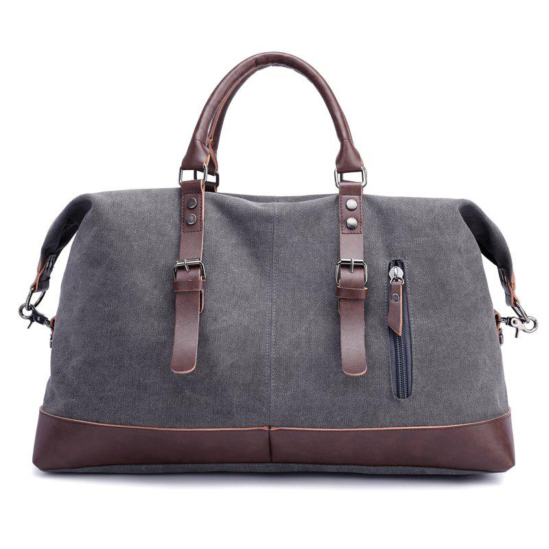 New Canvas Slanted Shoulder Sports Men's Bags - GRAY 50 X 22 X 37