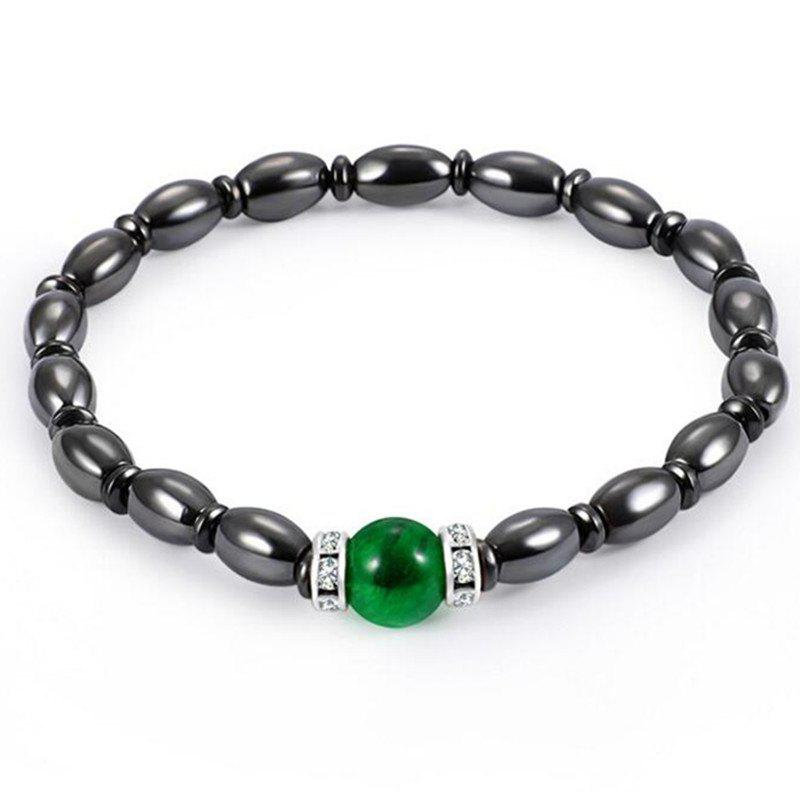 Stylish Personality Unique Color Shaped Magnet Bracelet Men Woman - multicolor A