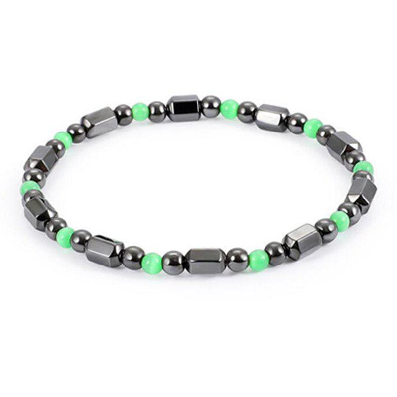 Stylish Personality Unique Green Magnet Stone Small Bracelet Woman - multicolor A