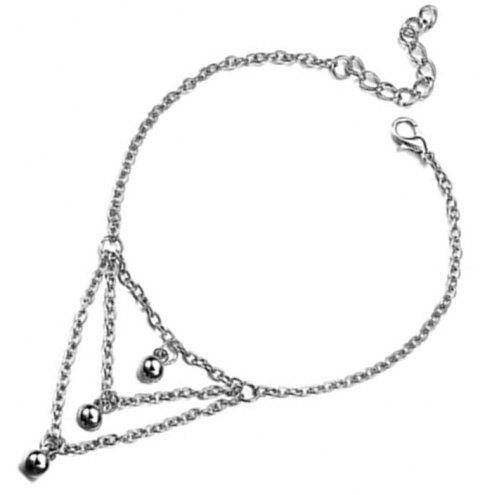 Fashion Minimalist Multilayer Beach Anklet Woman - SILVER
