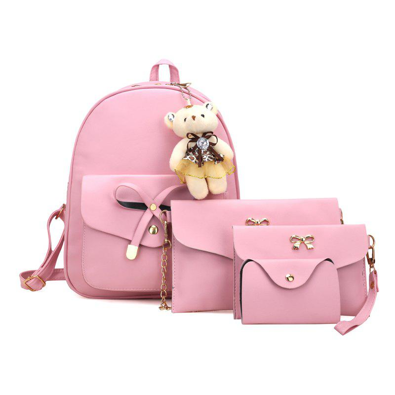 Girl / Women PU 4Pcs Backpack бюстгальтер на косточках 2 штуки quelle petite fleur 769834