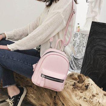 Simple and Simple Color Travel Backpack - PIG PINK