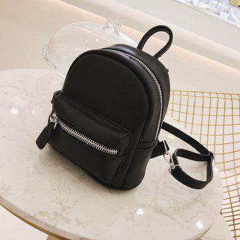 Simple and Simple Color Travel Backpack - BLACK
