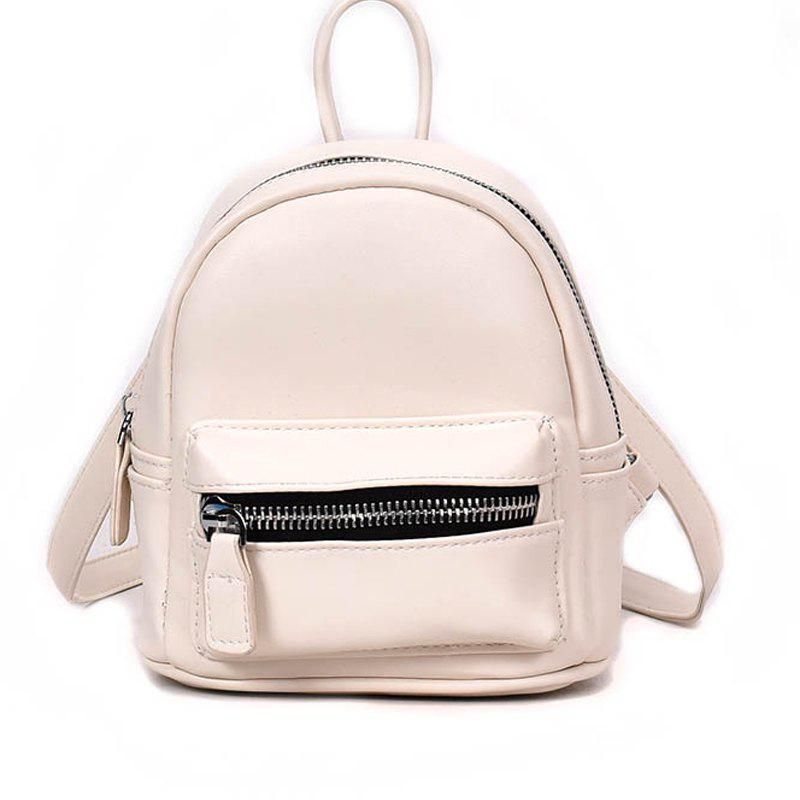 Simple and Simple Color Travel Backpack - WARM WHITE