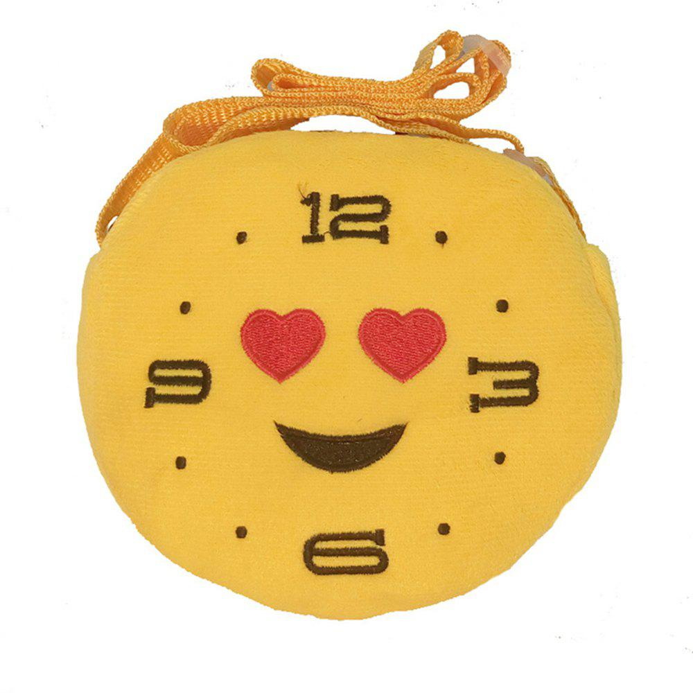 Smiley Face Plush Small Schoolbag Creative 15CM Coin Purse - multicolor A