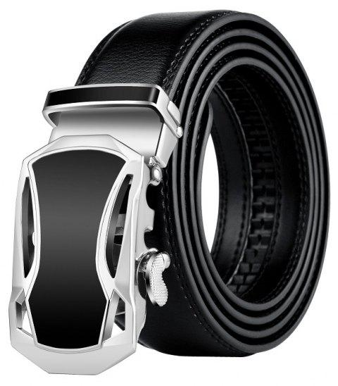 ZHAXIN 345 Car-shaped Metal Clasp Automatic Belt for Man - BLACK 110CM
