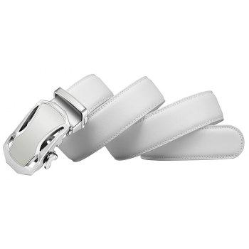 ZHAXIN 345 Car-shaped Metal Clasp Automatic Belt for Man - WHITE 120CM