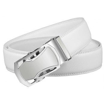 ZHAXIN 345 Car-shaped Metal Clasp Automatic Belt for Man - WHITE 125CM
