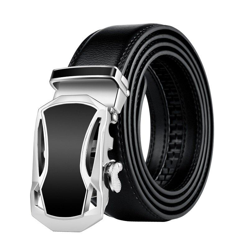 ZHAXIN 345 Car-shaped Metal Clasp Automatic Belt for Man - BLACK 115CM