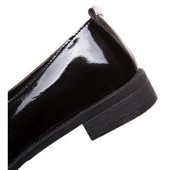 College Small Leather  Flat Women's Shoes - BLACK 39