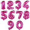 42 inch Number Digit Party Foil Balloons  Birthday Wedding Decoration 10pcs - NEON PINK