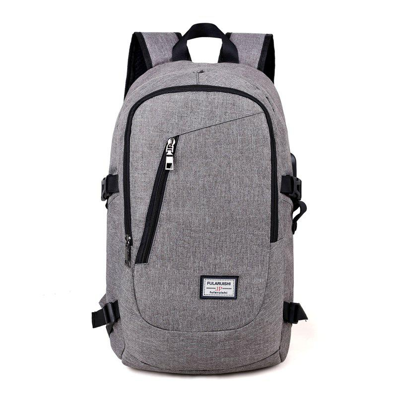 USB Design Backpack Men Student Backbag Male Waterproof Anti Theft Laptop Bag