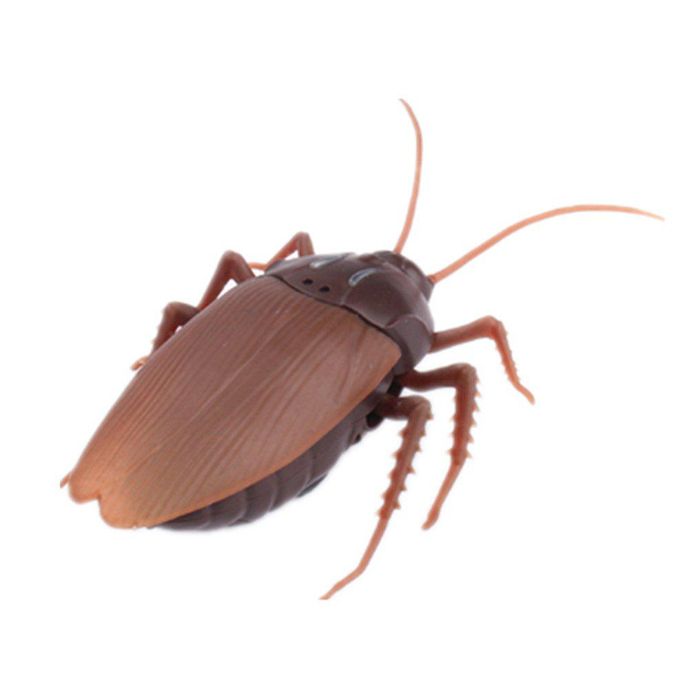 Infrared Remote Control Toy Simulation Cockroach - BROWN