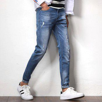 New Spring Men's Casual Jeans - SILK BLUE 35