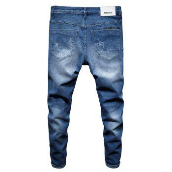 New Spring Men's Casual Jeans - SILK BLUE 32