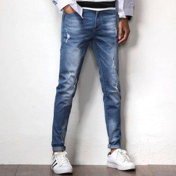 New Spring Men's Casual Jeans - SILK BLUE 37