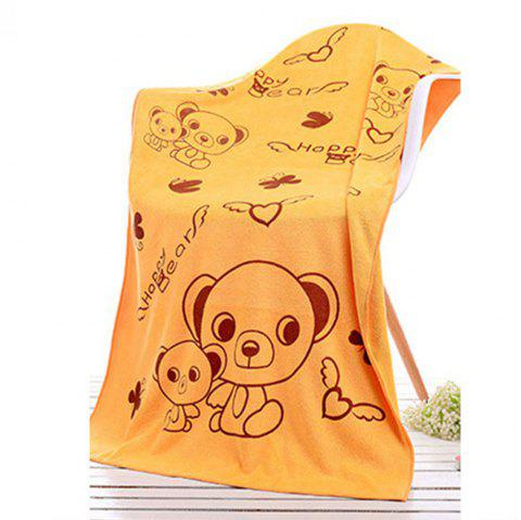 Beauty Salon Sauna Adult Men And Women With Soft Water Bath Towel - BRIGHT YELLOW