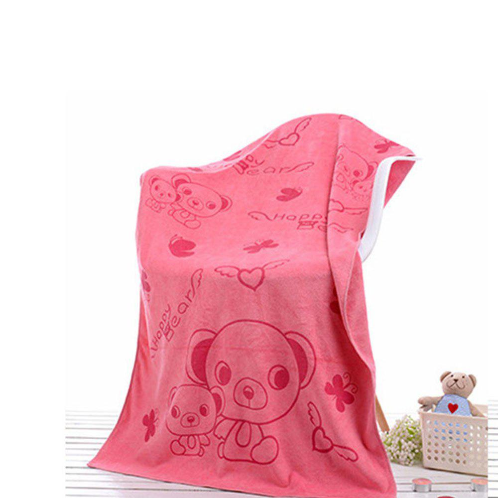 Beauty Salon Sauna Adult Men And Women With Soft Water Bath Towel - CARNATION PINK